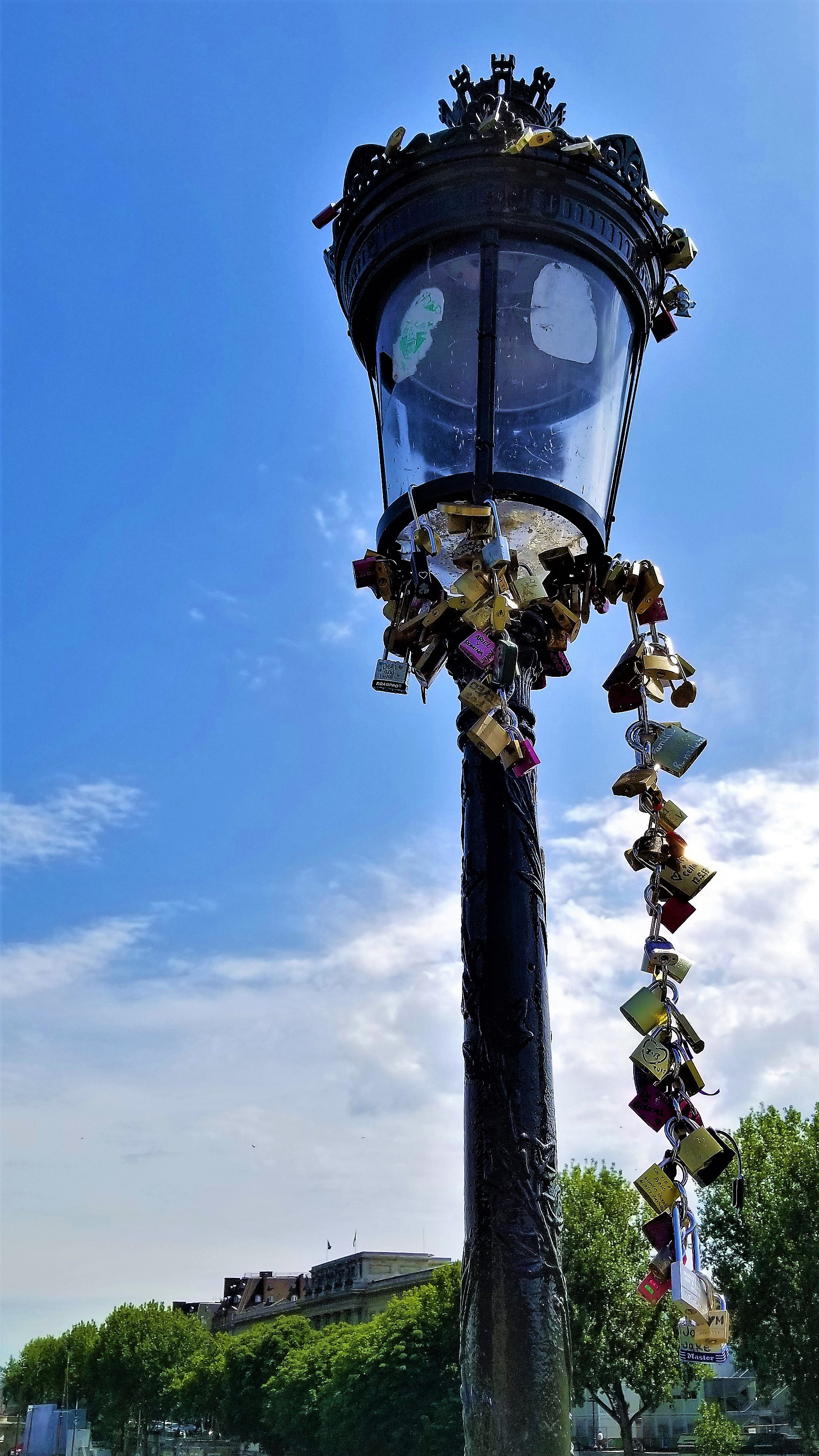 Locks on Lamp Posts