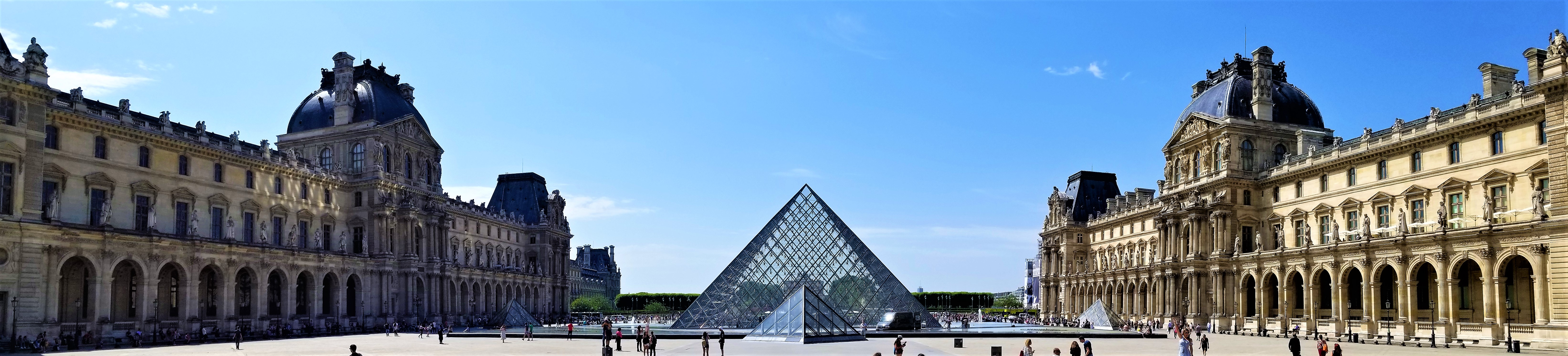 Louvre Pyramid Pano