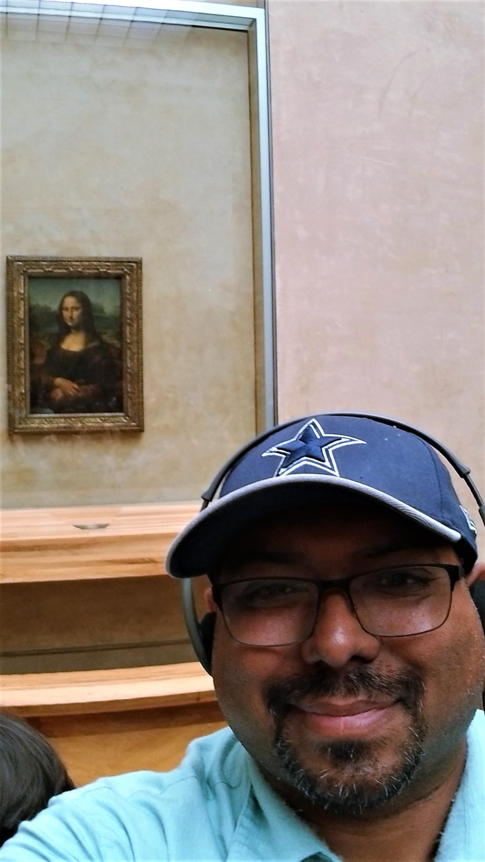 Steven with Mona Lisa