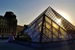 Sun Setting on Pyramid