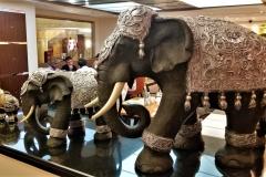Elephants at Breakfast