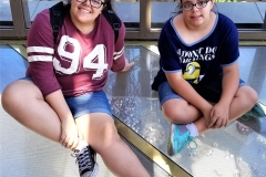 Girls on glass