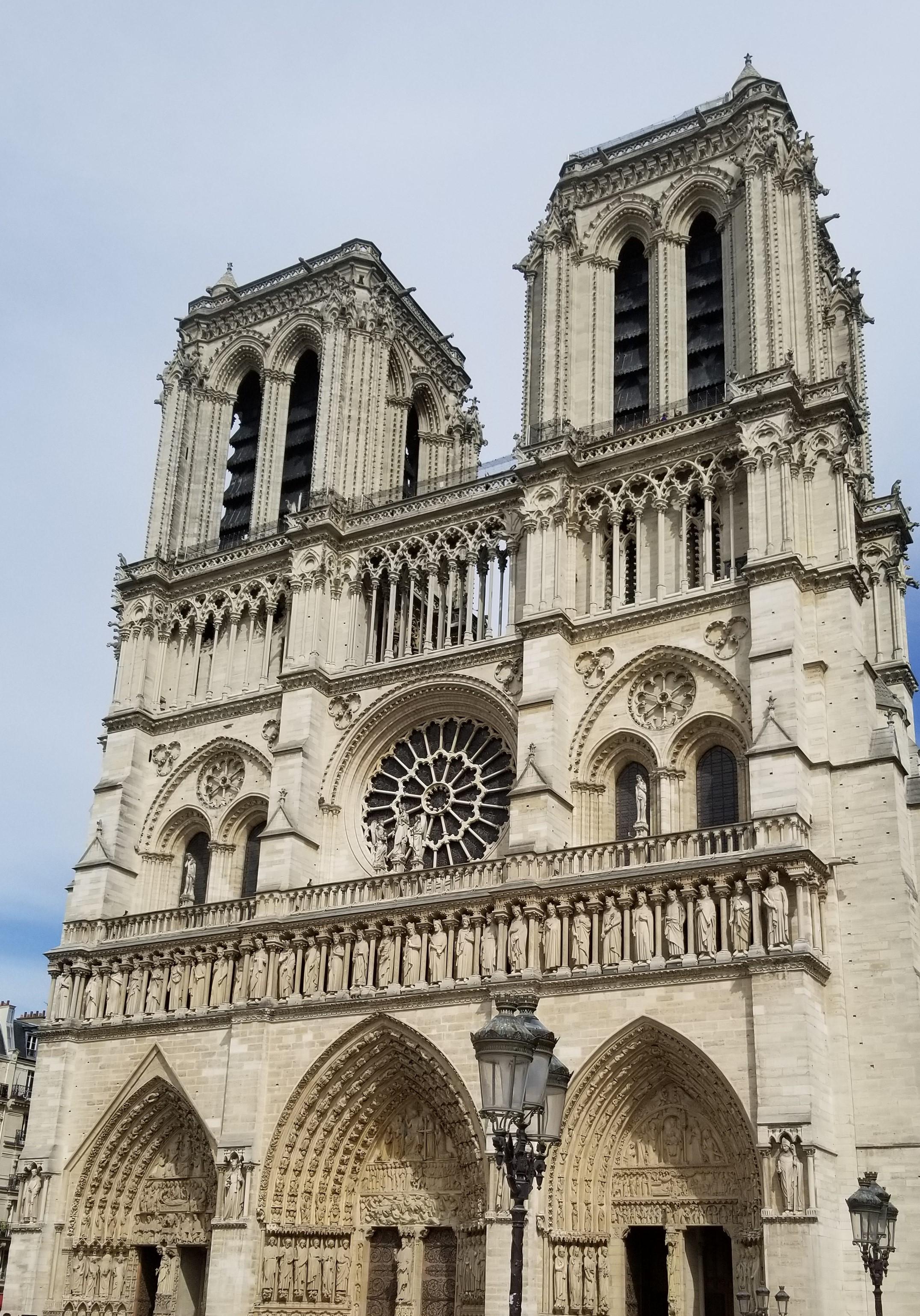Front Side of Notre Dame