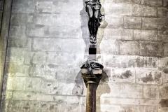 Crucifix inside Notre Dame
