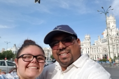 Steven and Elena Selfie by Town Hall