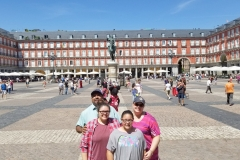 Family at Plaza Mayor